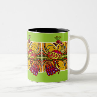 PEACOCK CUP /PINK - GREEN