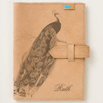 Peacock Custom Leather Journal