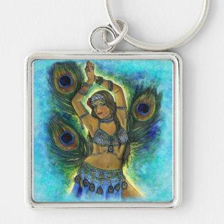 Peacock Dancer Keychain