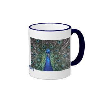 Peacock Daze. Ringer Coffee Mug