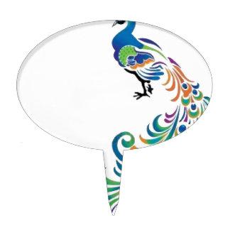 Peacock Decoración Para Tarta
