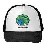 Peacock. del pavo real gorros