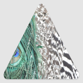 Peacock Delight Triangle Sticker