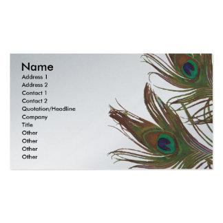 Peacock Design Business Card