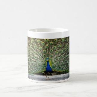 peacock design coffee mug