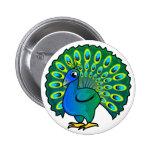 Peacock Design Pin