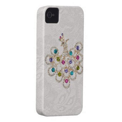 Peacock Diamonds & Jewels Paisley Lace iPhone 4 iPhone 4 Case