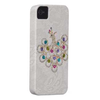 Peacock Diamonds & Jewels Paisley Lace iPhone 4 Case-Mate iPhone 4 Case
