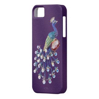 Peacock Digital Jewels Purple iPhone 5 Case