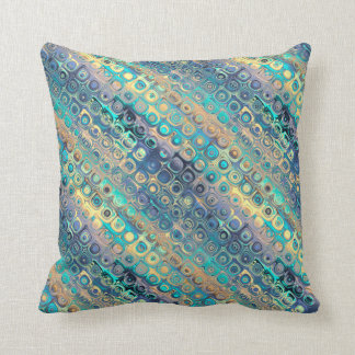 Peacock Distortions Pastels 6 Throw Pillow