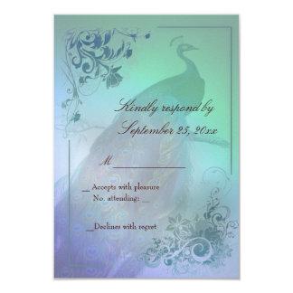 Peacock diy RSVP Card template