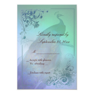 Peacock diy RSVP Card template Personalized Invitations