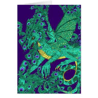 Peacock Dragon Card