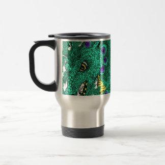 Peacock Dragon Mugs