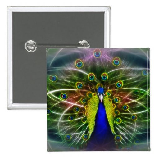 Peacock Dreamcatcher Buttons