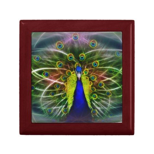 Peacock Dreamcatcher Keepsake Box