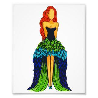 Peacock Dress Photo Print