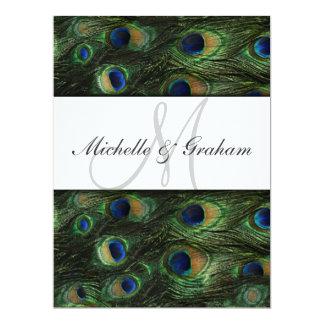 "Peacock Elegant Wedding invitation 6.5"" X 8.75"" Invitation Card"