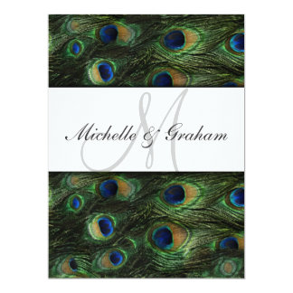 Peacock Elegant Wedding invitation