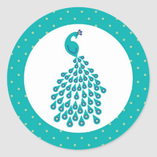 Peacock Envelope Seal Sticker