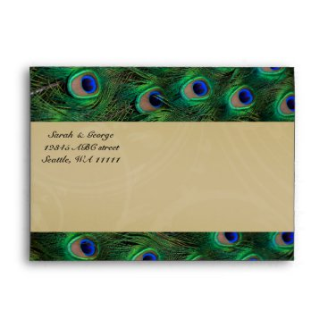peacock envelopes