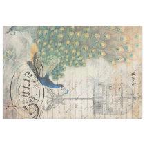 Peacock Ephemera Image Transfer Sheet