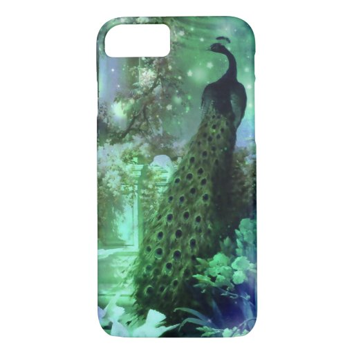 PEACOCK EVENING GROTTO: BLUE GREEN DREAM iPhone 8/7 CASE