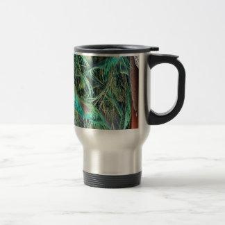 Peacock Exotic New Growth Travel Mug