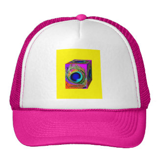 Peacock Eye feathers Box by Sharles Trucker Hat