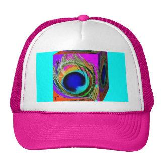 Peacock  eYE Freather Box Design by SHARLES Trucker Hat