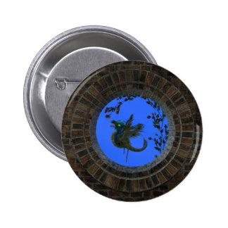 Peacock Fairy Dragon Buttons