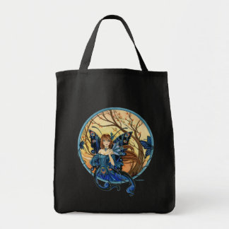 Peacock Fairy grocery tote