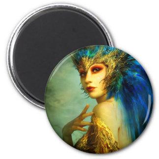 Peacock Fairy Magnet