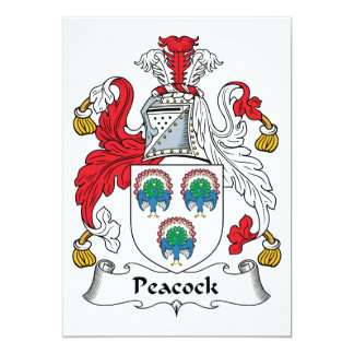 Peacock Family Crest Card