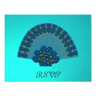 Peacock Fan, RSVP Card