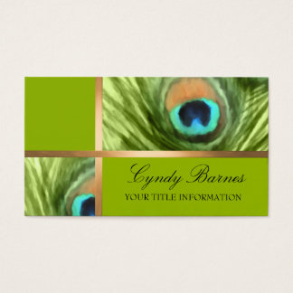 Peacock Fantasy Business Card Set 1101