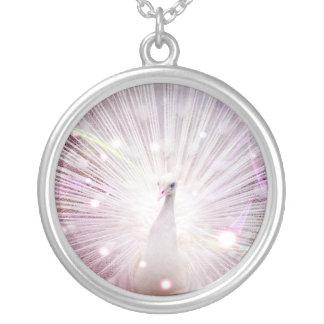 Peacock Fantasy in Pink Pendant