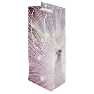 Peacock Fantasy in Pink Wine Gift Bag