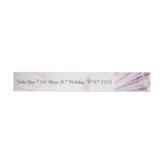 Peacock Fantasy in Pink Wrap Around Address Label