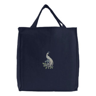 Peacock Fantasy Tote Bags
