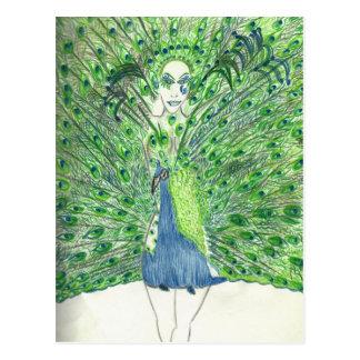 Peacock Fashion Postcard