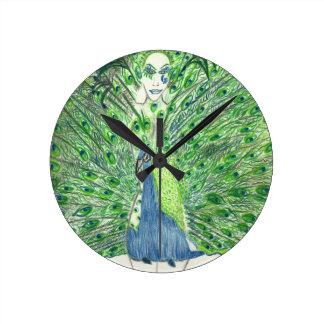 Peacock Fashion Round Clock