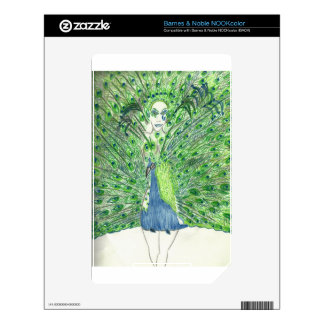 Peacock Fashion Decal For The NOOK Color