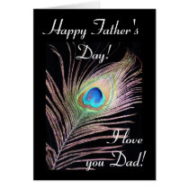 Peacock: Father's day Card