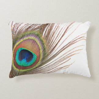 Peacock Feather Accent Pillow