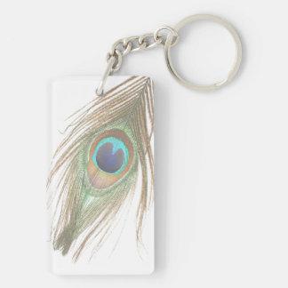 Peacock Feather Acrylic Keychain