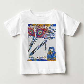 Peacock Feather and Flute - Hare Krishna Baby T-Shirt