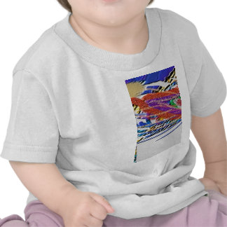 Peacock Feather and Flute - Hare Krishna T Shirt