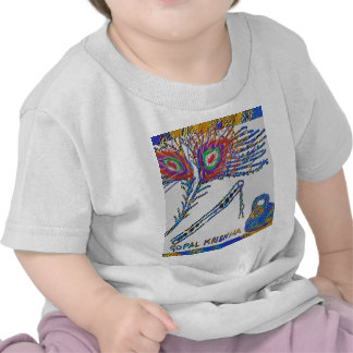 Peacock Feather and Flute - Hare Krishna Shirt