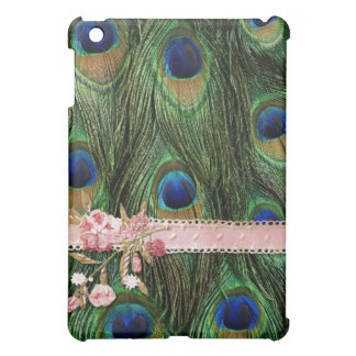 Peacock Feather and Pink Ribbon iPad Case